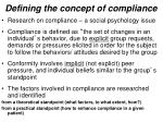 defining the concept of compliance1