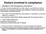 factors involved in compliance