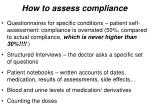 how to assess compliance