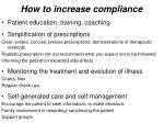 how to increase compliance