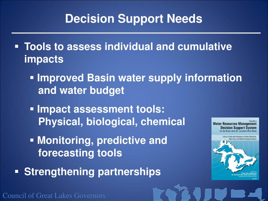Decision Support Needs