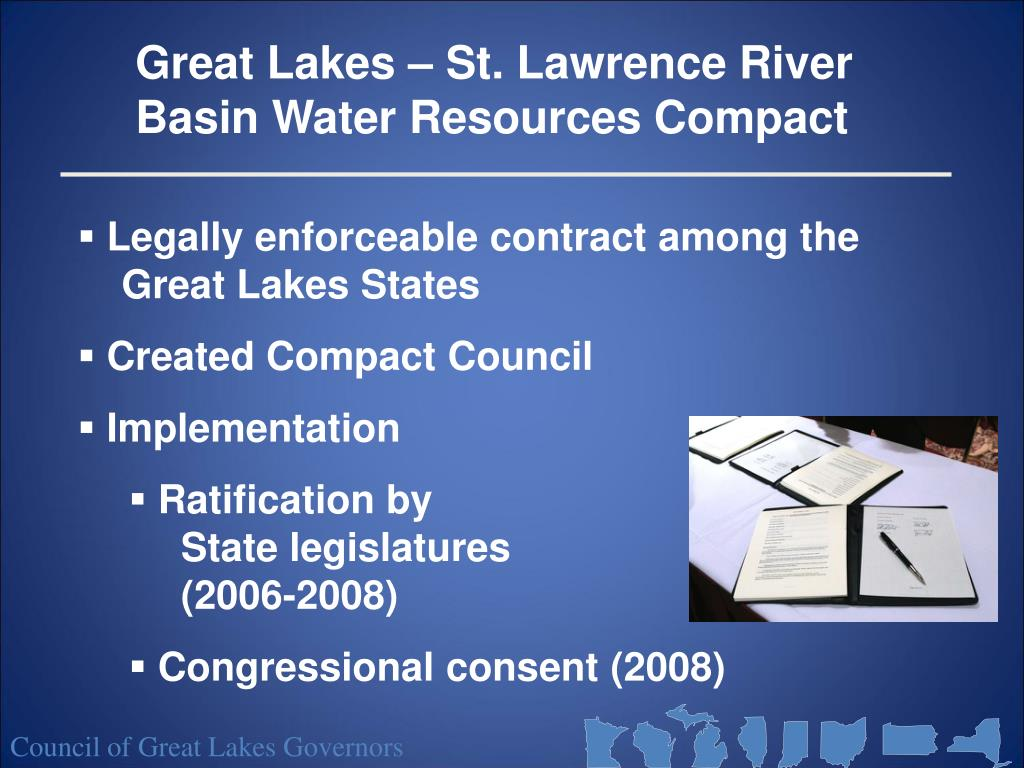 Great Lakes – St. Lawrence River Basin Water Resources Compact