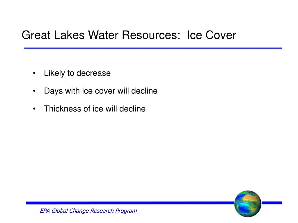 Great Lakes Water Resources:  Ice Cover