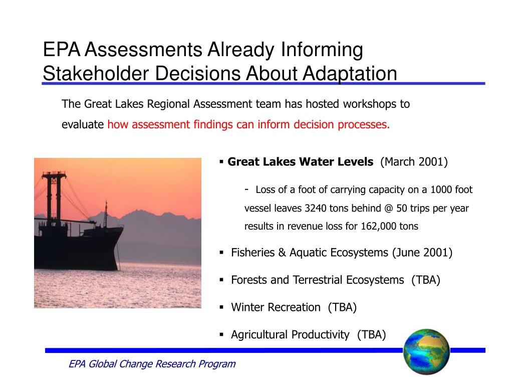 EPA Assessments Already Informing Stakeholder Decisions About Adaptation