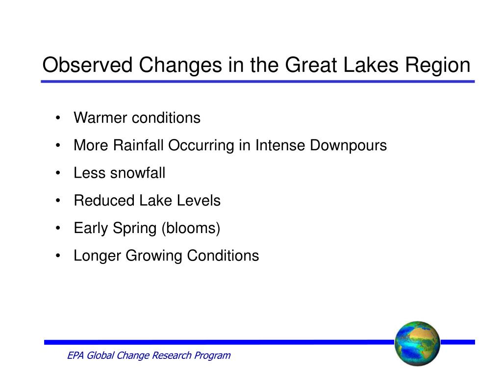 Observed Changes in the Great Lakes Region