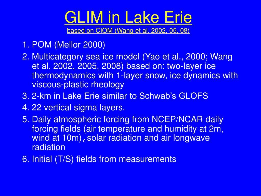 GLIM in Lake Erie