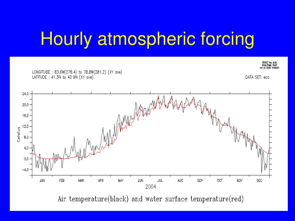 Hourly atmospheric forcing