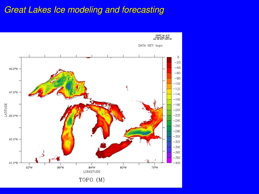 Great Lakes Ice modeling and forecasting