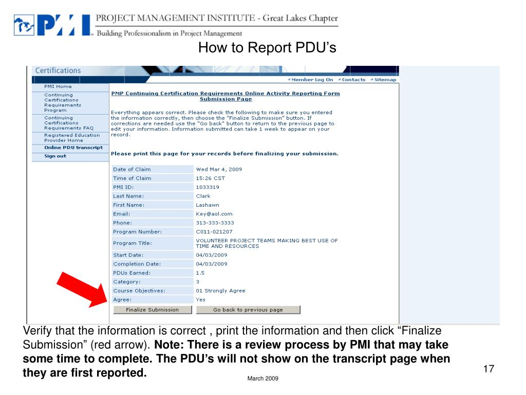 How to Report PDU's