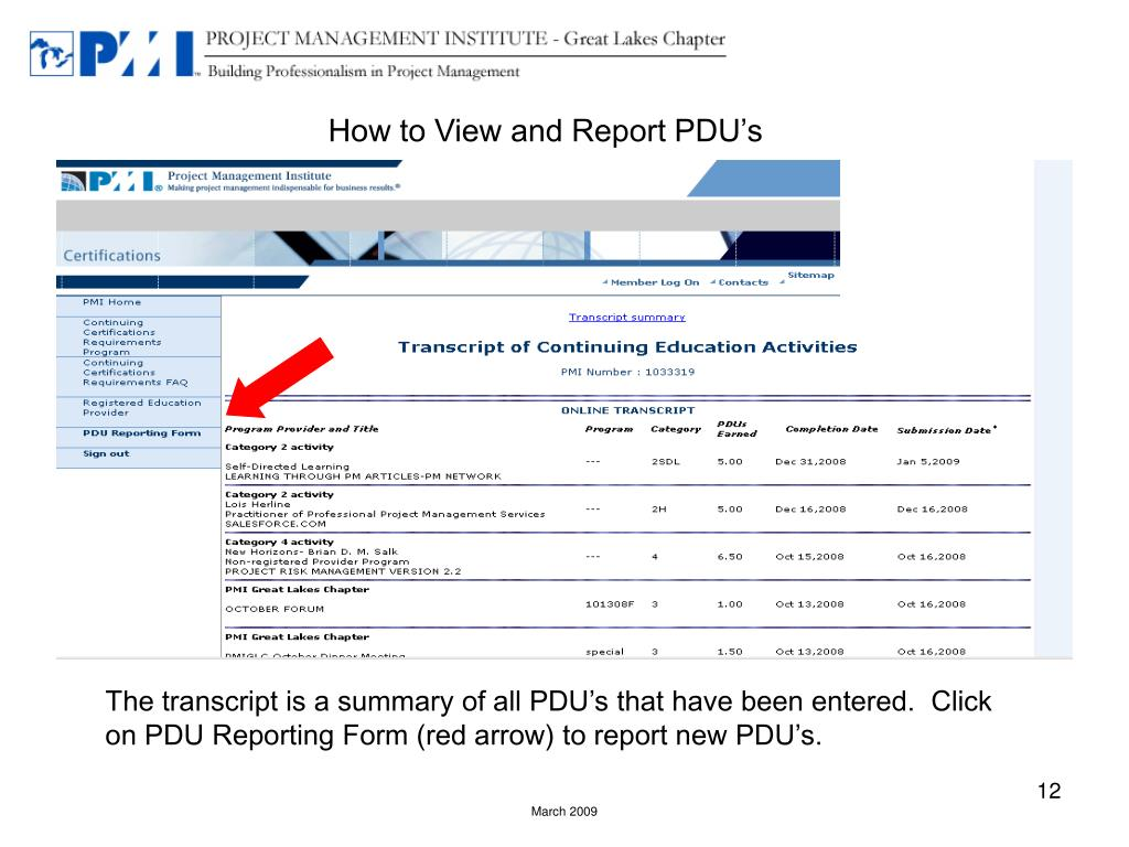 How to View and Report PDU's