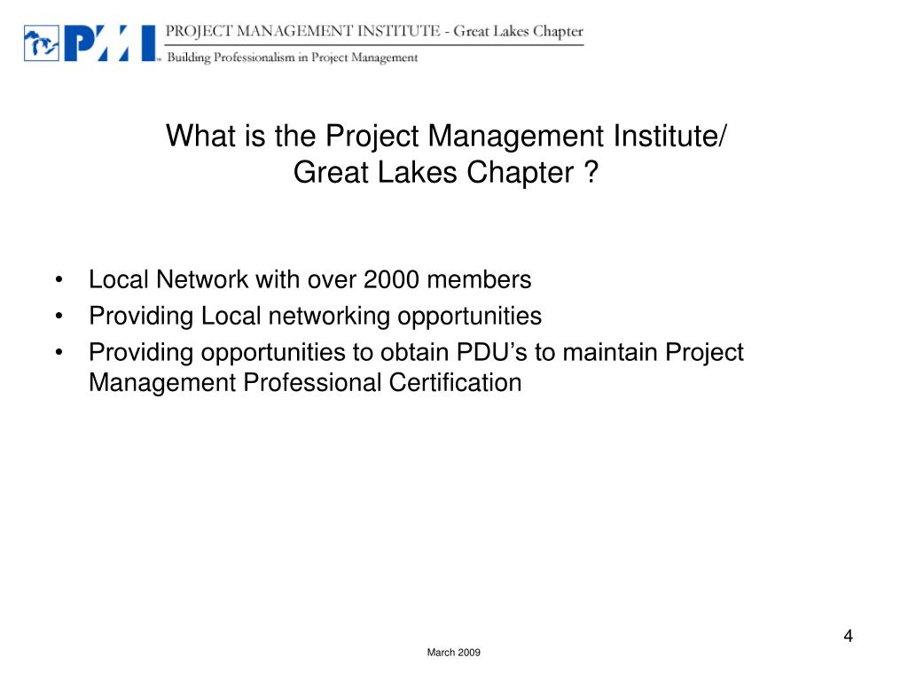 What is the Project Management Institute/