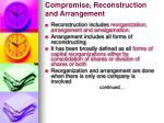 compromise reconstruction and arrangement