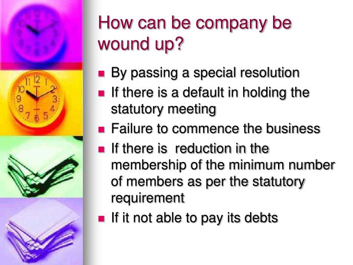 How can be company be wound up?