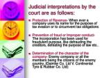 judicial interpretations by the court are as follows