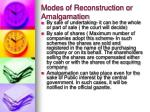 modes of reconstruction or amalgamation