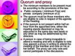 quorum and proxy