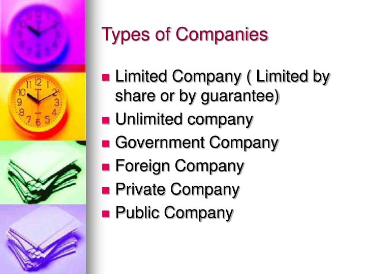 Types of Companies