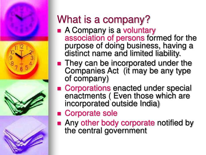 What is a company?