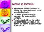 winding up procedure