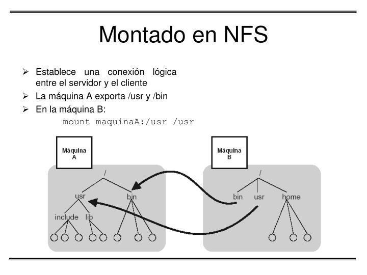 Montado en NFS