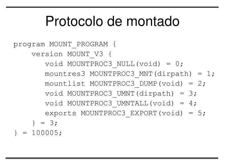 Protocolo de montado