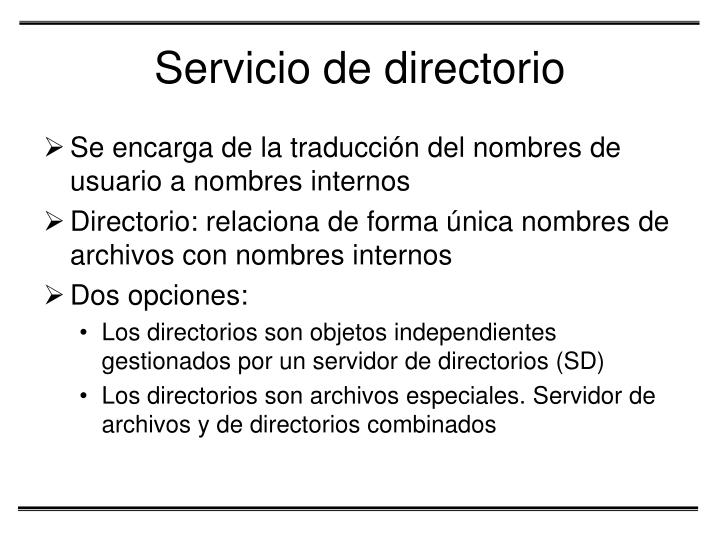 Servicio de directorio