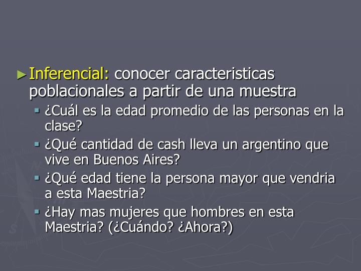 Inferencial: