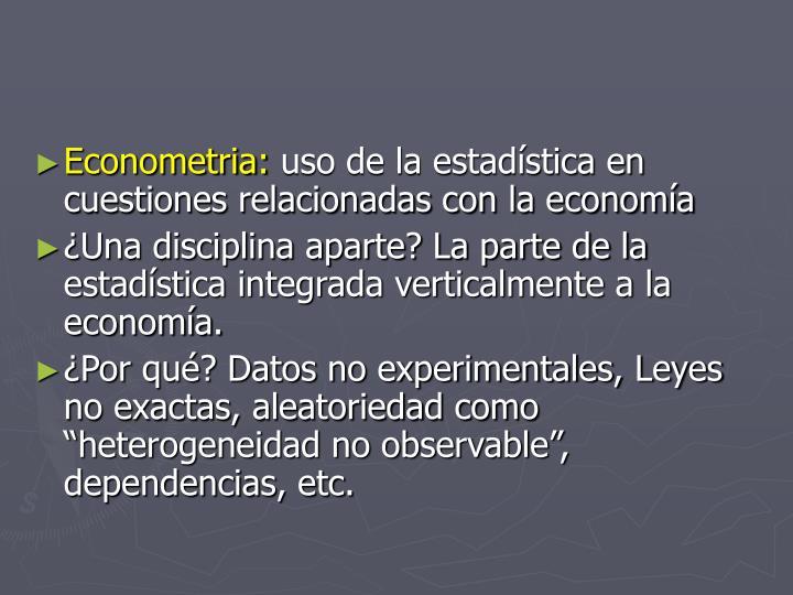 Econometria: