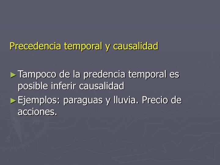 Precedencia temporal y causalidad