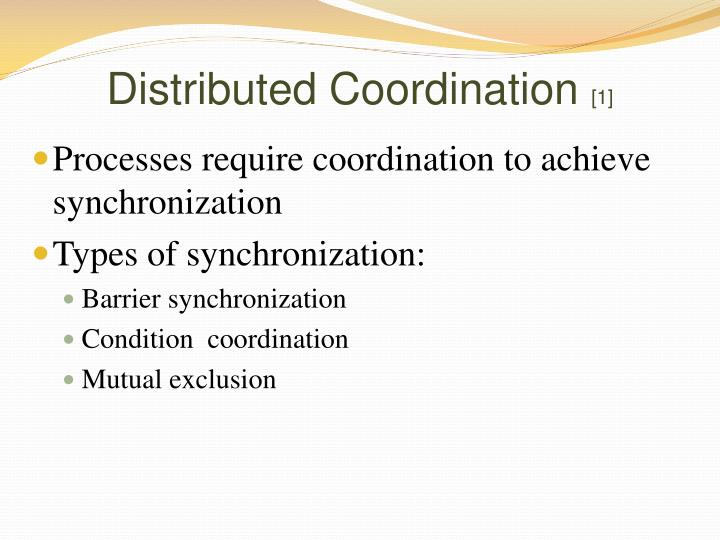 Distributed Coordination
