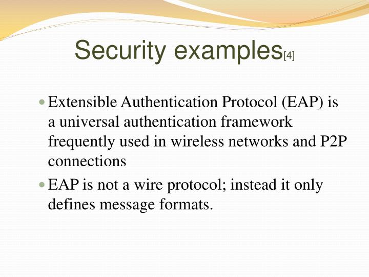 Security examples