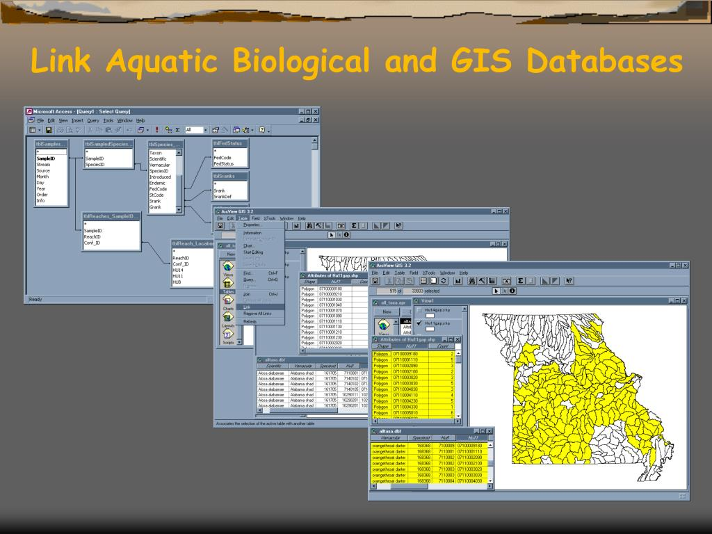 Link Aquatic Biological and GIS Databases
