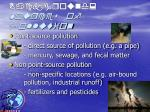 background sources of pollution