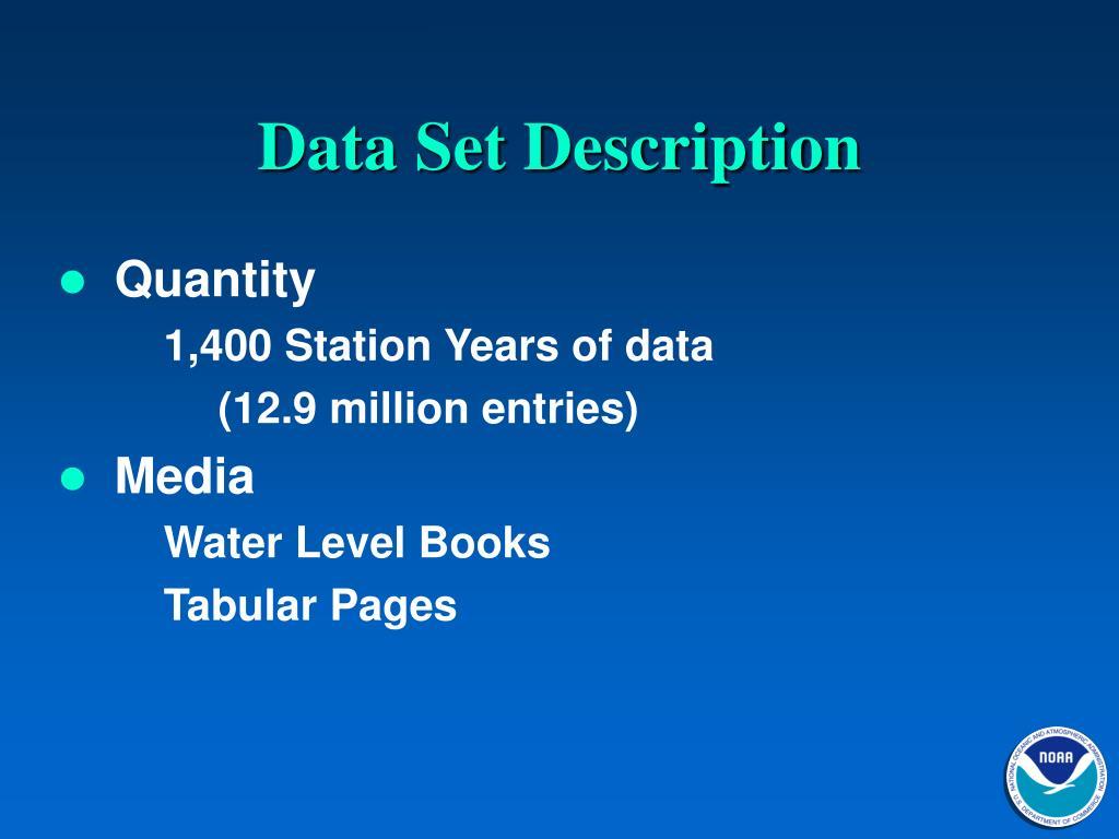 Data Set Description