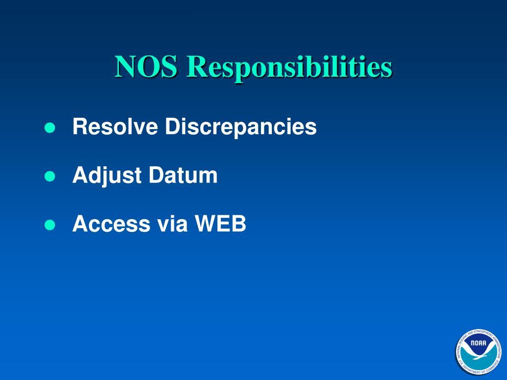 NOS Responsibilities