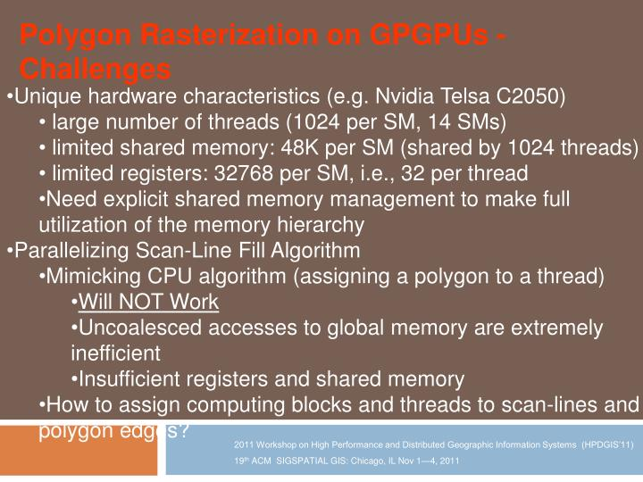 Polygon Rasterization on GPGPUs - C