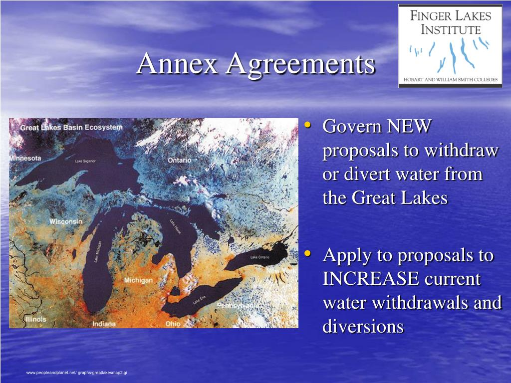 Govern NEW proposals to withdraw or divert water from the Great Lakes