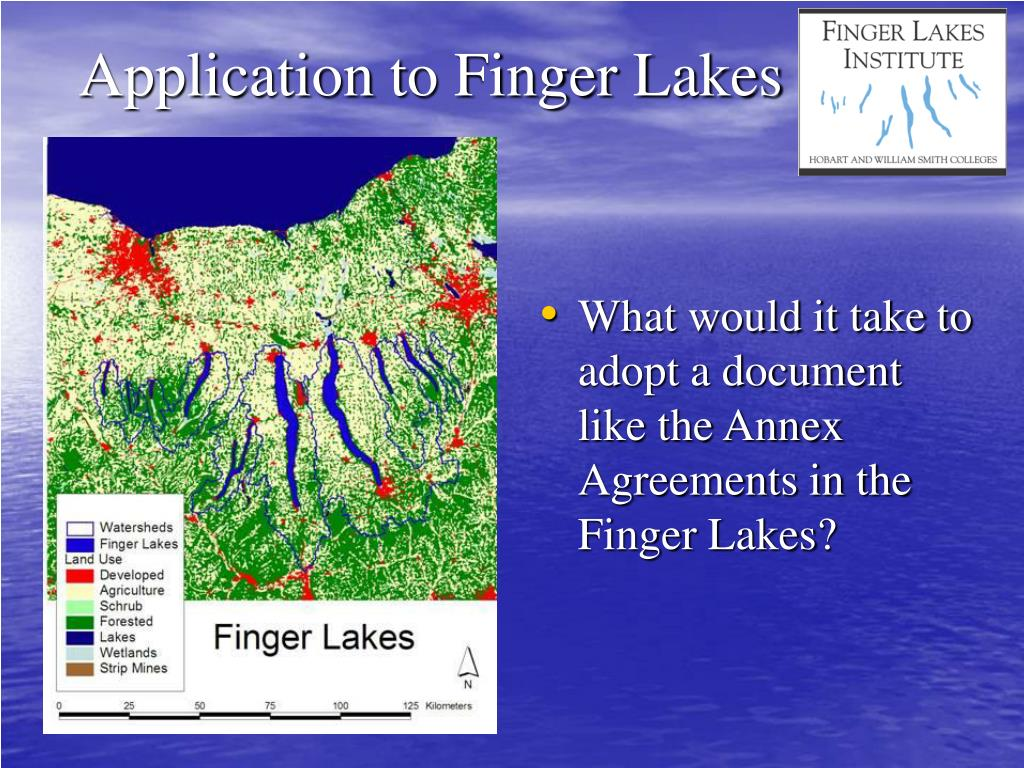 Application to Finger Lakes
