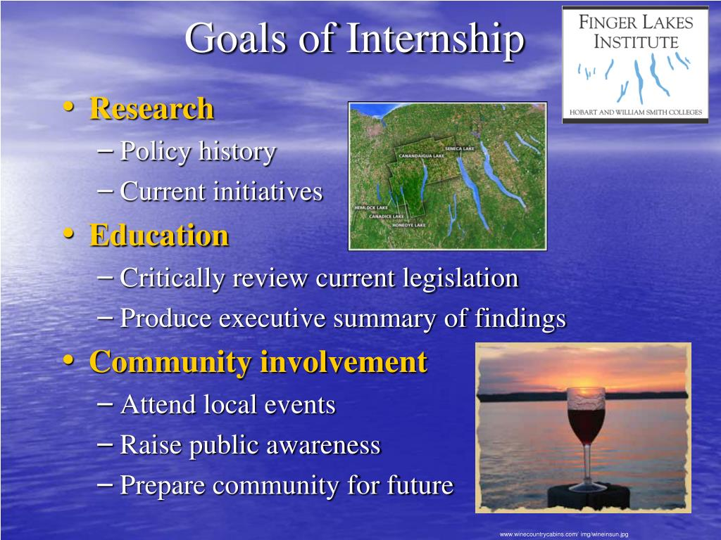 Goals of Internship