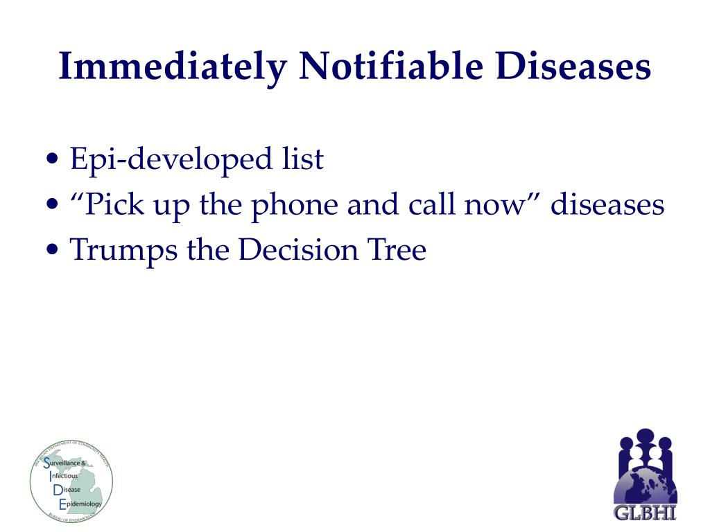 Immediately Notifiable Diseases