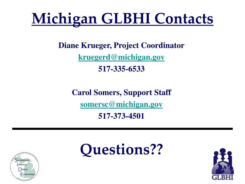 Michigan GLBHI Contacts