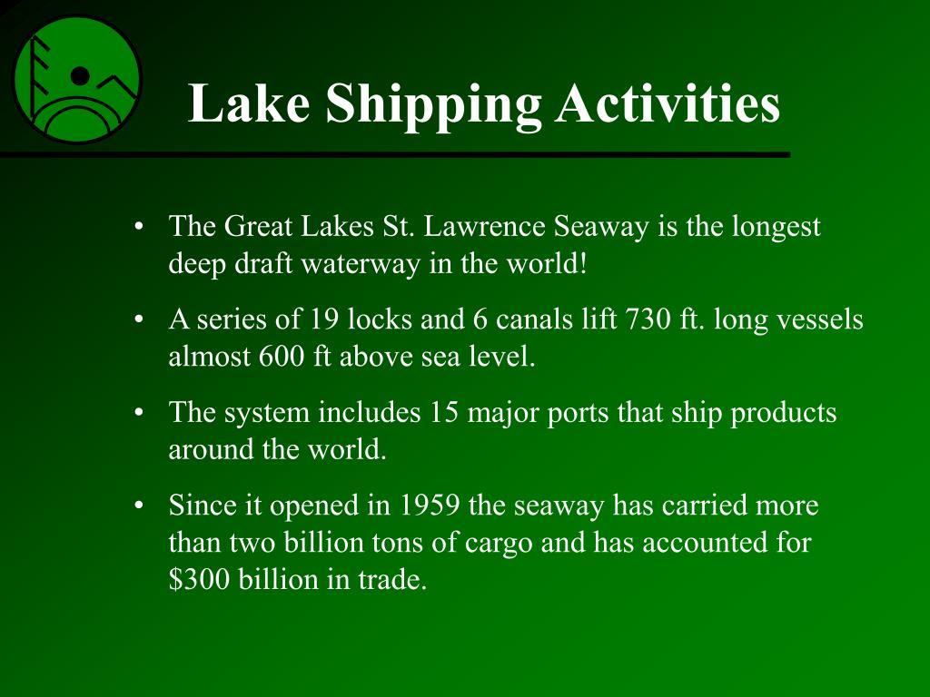 Lake Shipping Activities