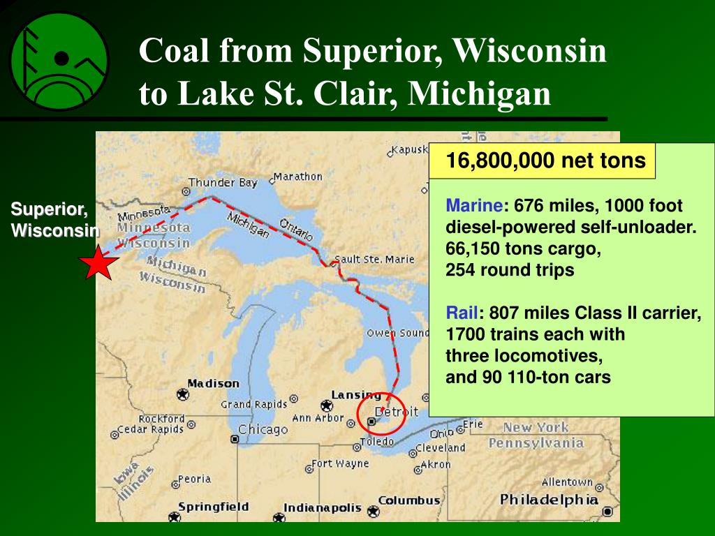 Coal from Superior, Wisconsin