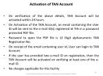 activation of tan account1