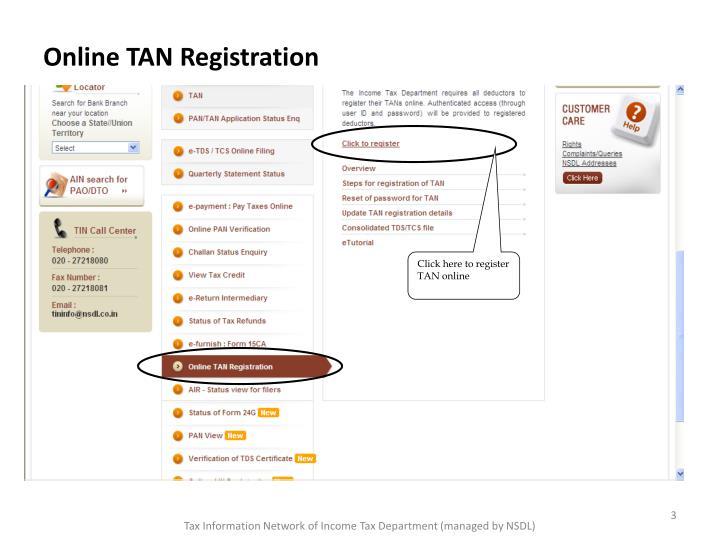 Online TAN Registration