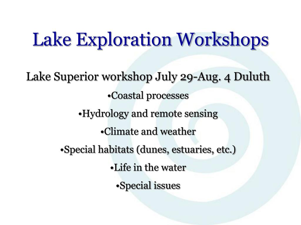 Lake Exploration Workshops