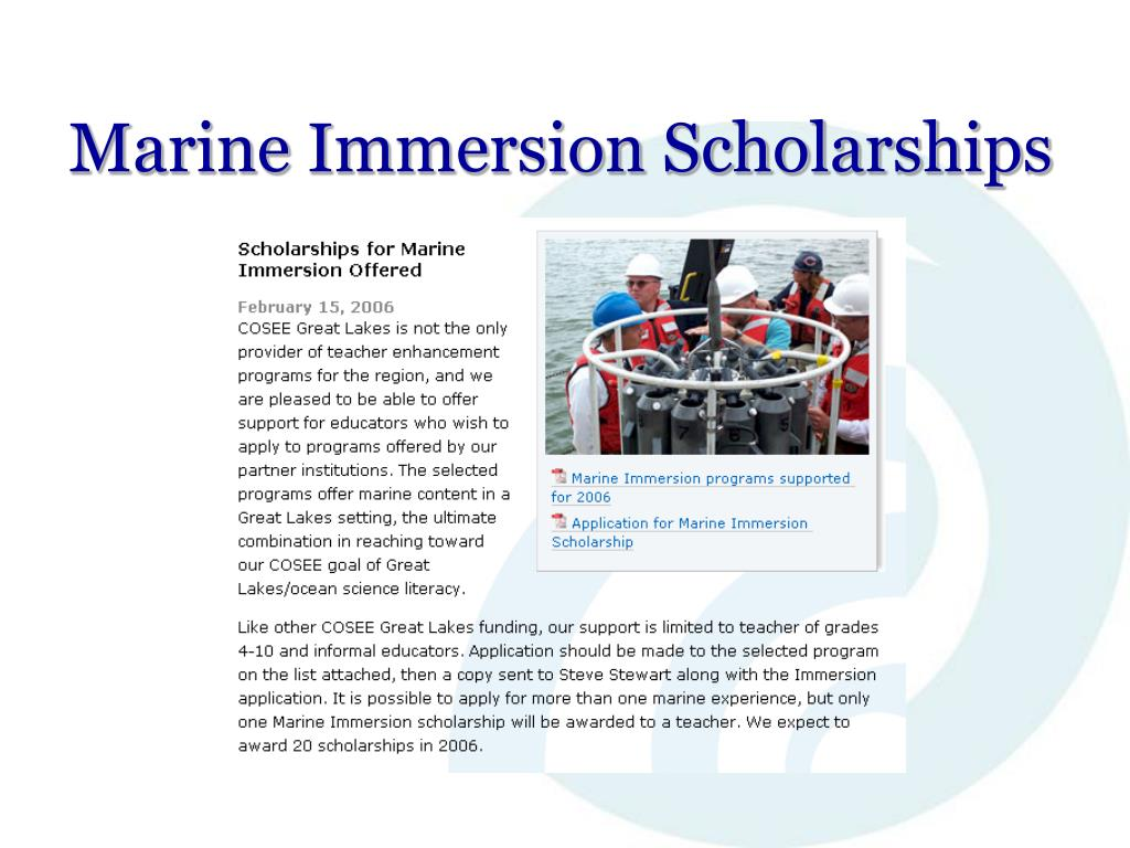 Marine Immersion Scholarships