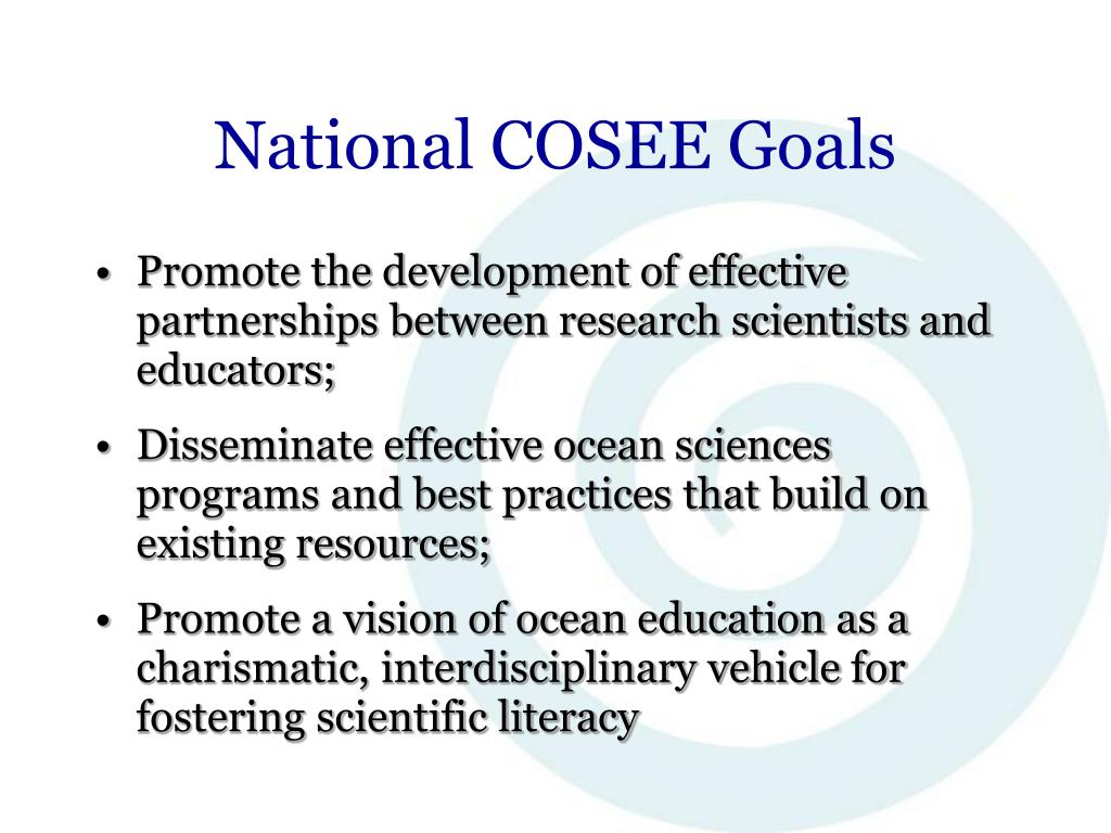 National COSEE Goals