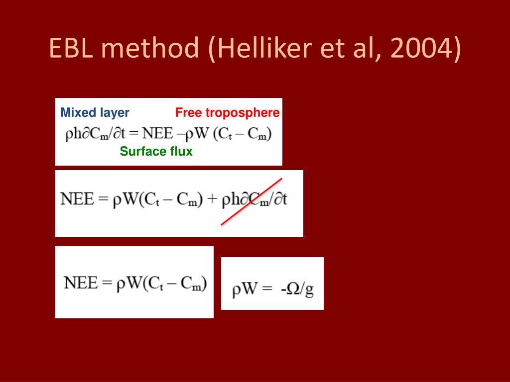 EBL method (Helliker et al, 2004)