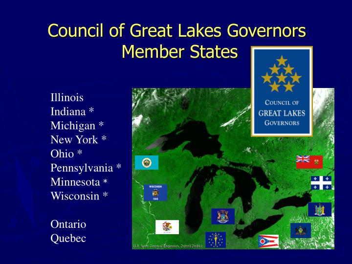 Council of great lakes governors member states